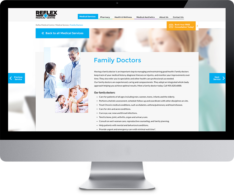 reflex-medical-centre-webdesign-family-doctors