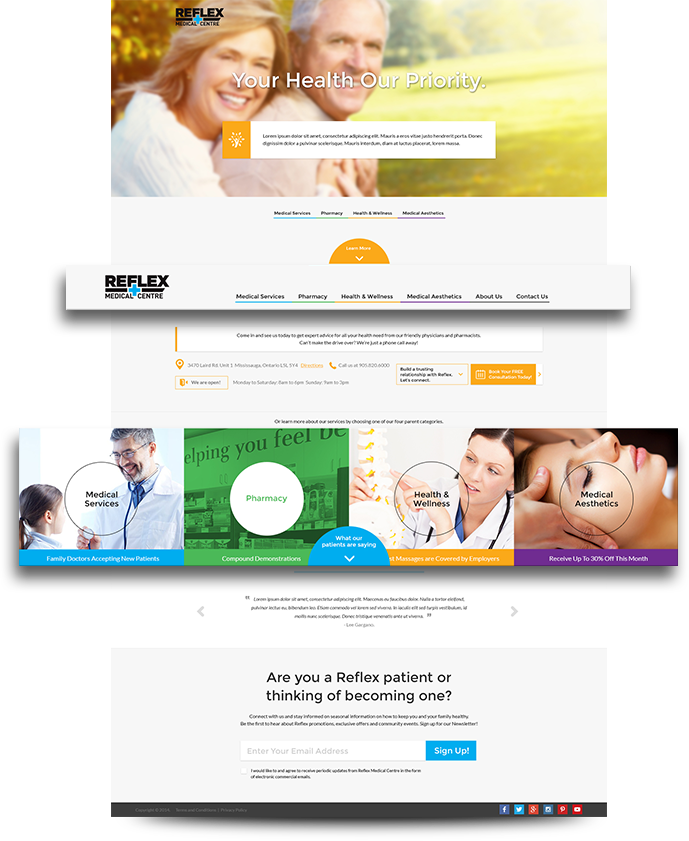 reflex-medical-centre-website-home-page