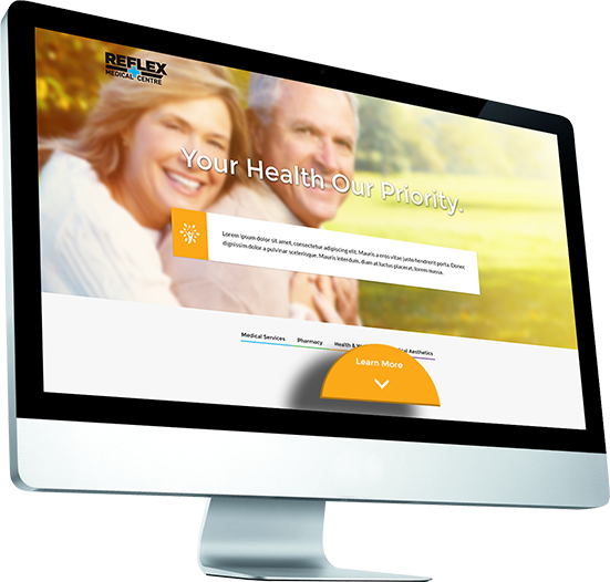 reflex-medical-centre-website-landing-perspective