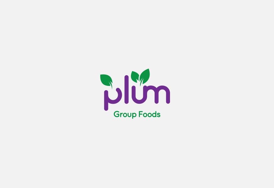 Plum Group Foods Concept Logo